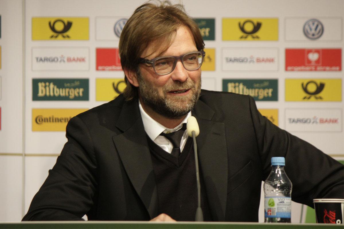 Jurgen Klopp at a press conference