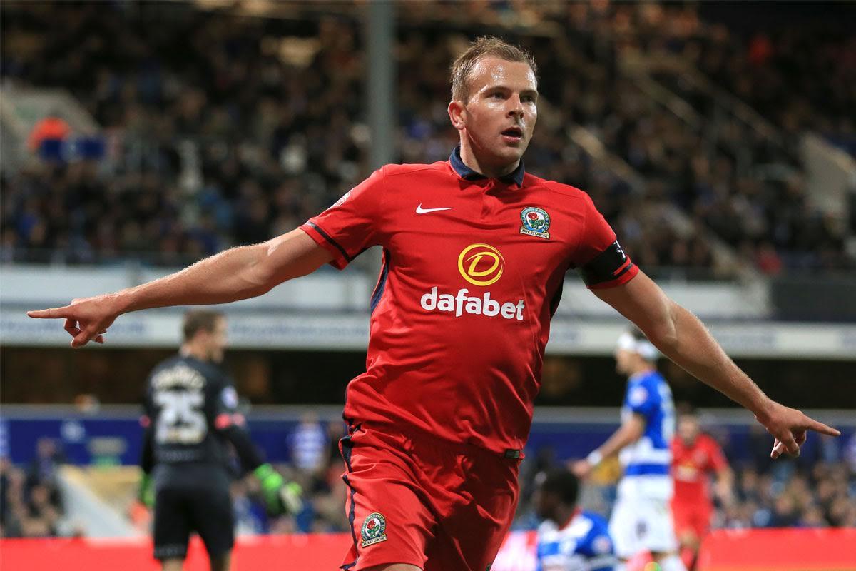 Jordan Rhodes celebrates goal for Blackburn