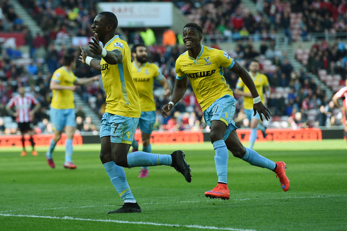 Yannick Bolasie celebrates hatrick for Crystal Palaca