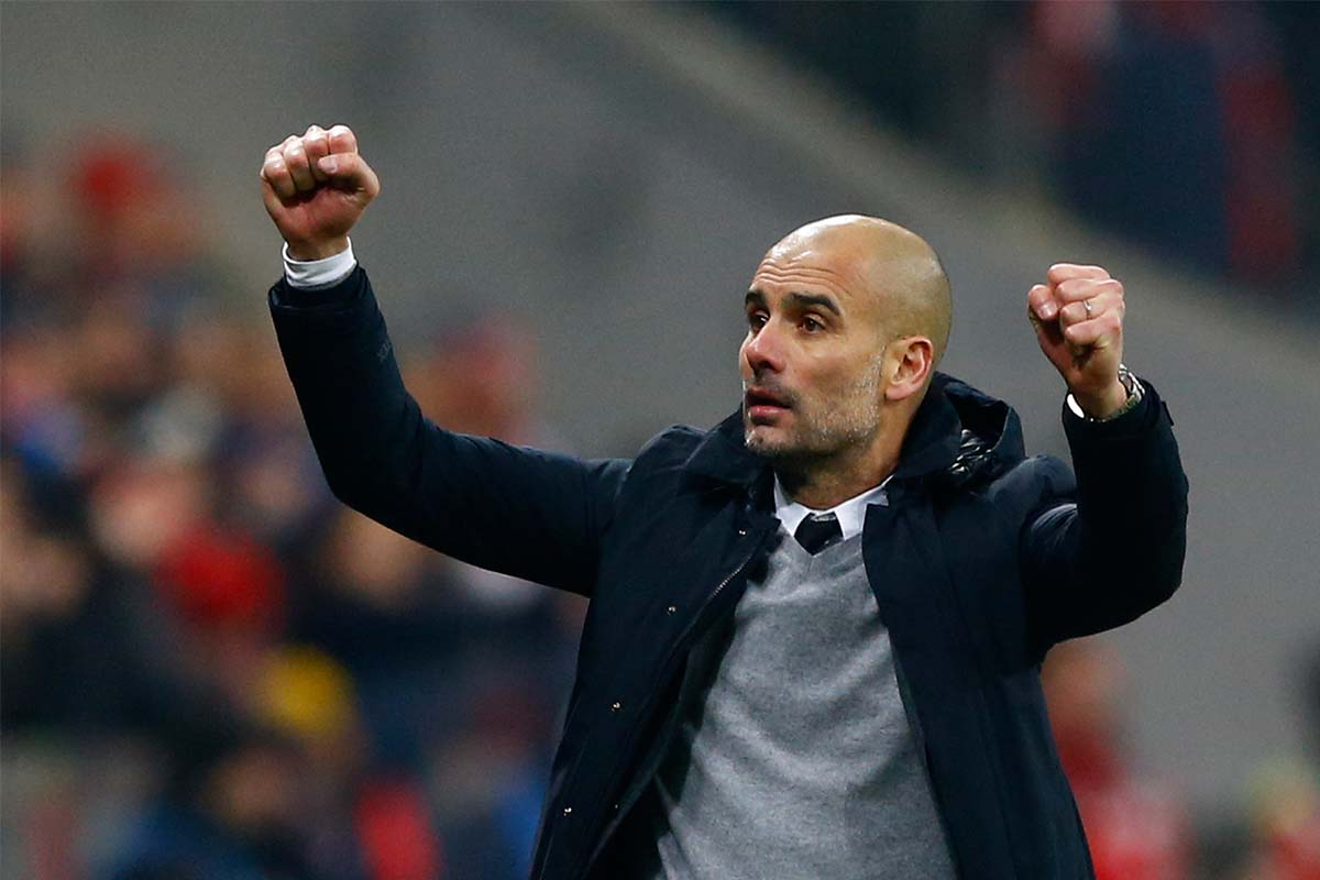 Guardiola celebrates Champions League win