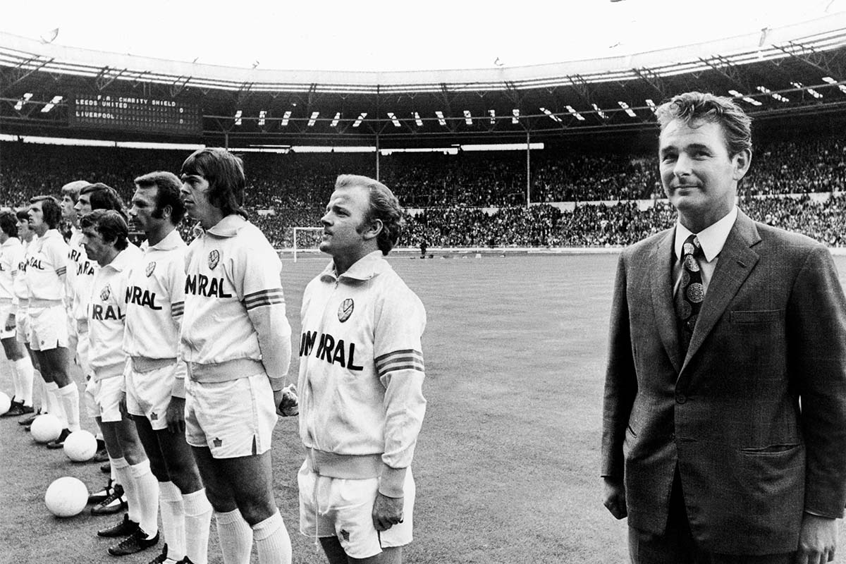 Leeds manager Brian Clough