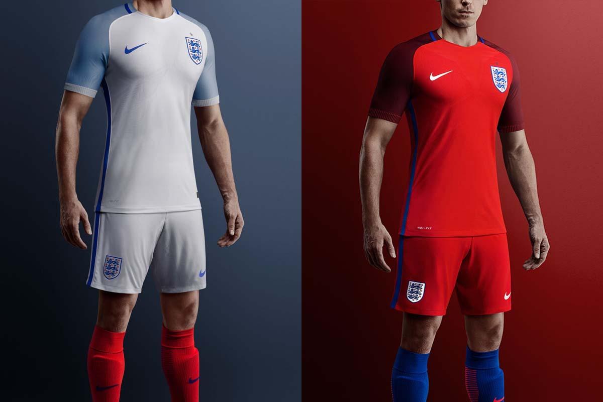 England home and away kit