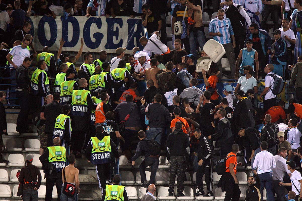 Marseille & Atletico Madrid fans Clash in France