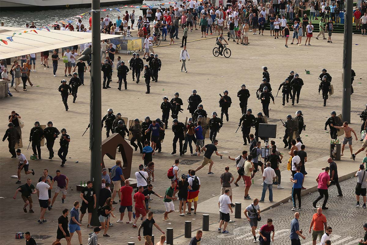 Hooligans in Marseille