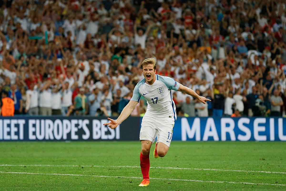 Eric Dier scores against Russia at Euro 2016