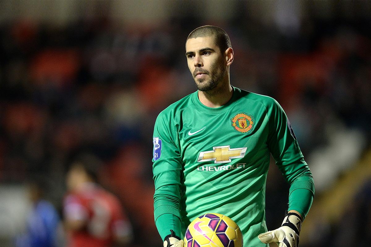 Victor Valdes in action for Man Utd