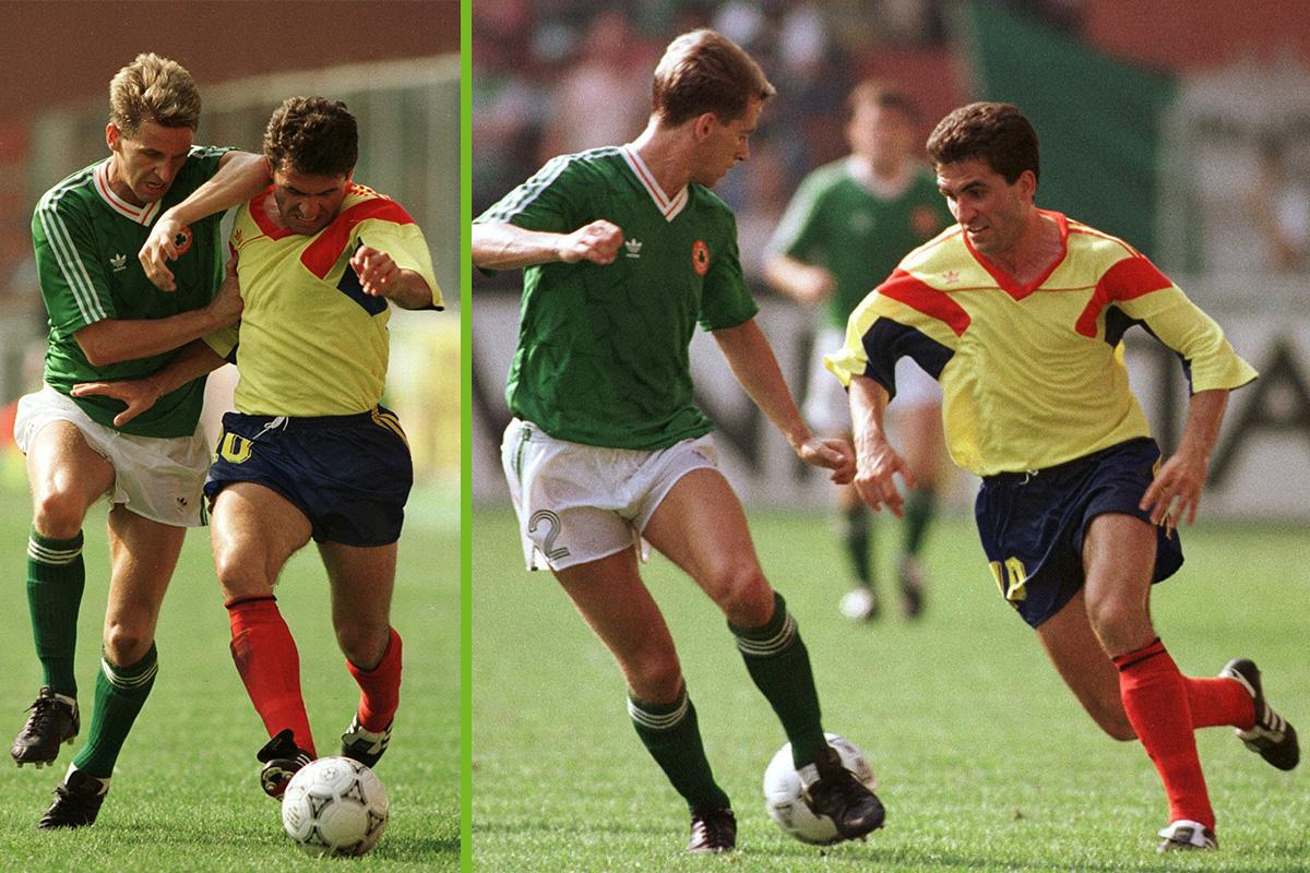 Gheorghe Hagi Romania v Ireland