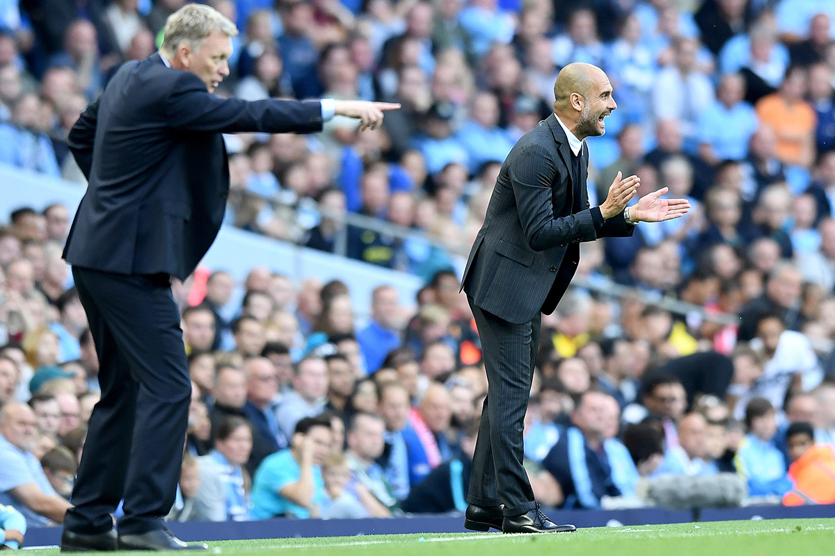 David Moyes and Pep Guardiola