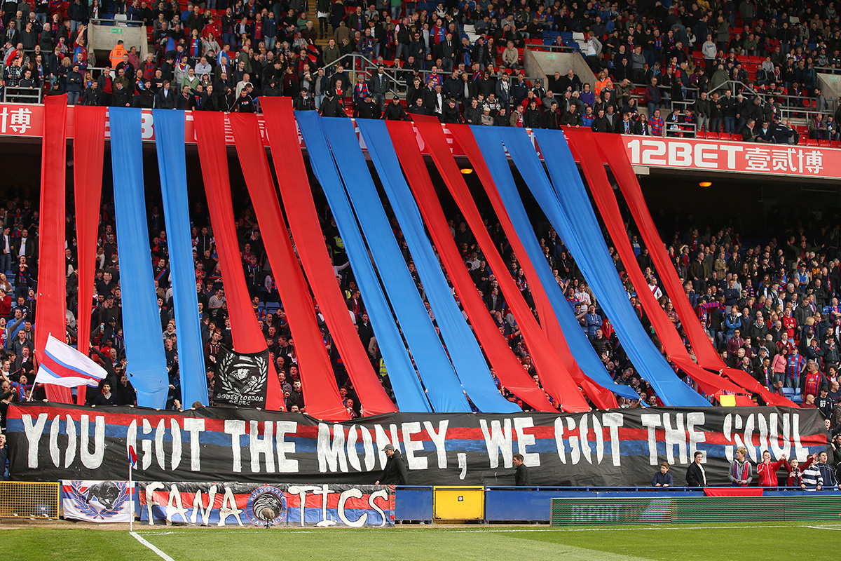 crystal palace fans banner