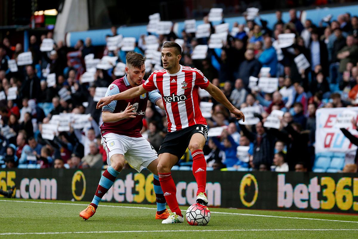 Dusan Tadic Aston Villa v Southampton