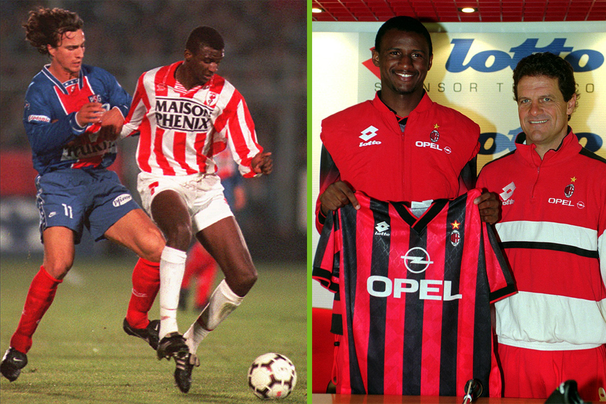patrick vieira cannes and ac milan