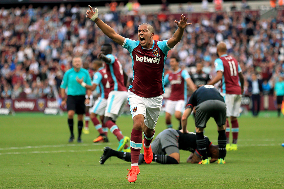 sofiane feghouli west ham united v southampton