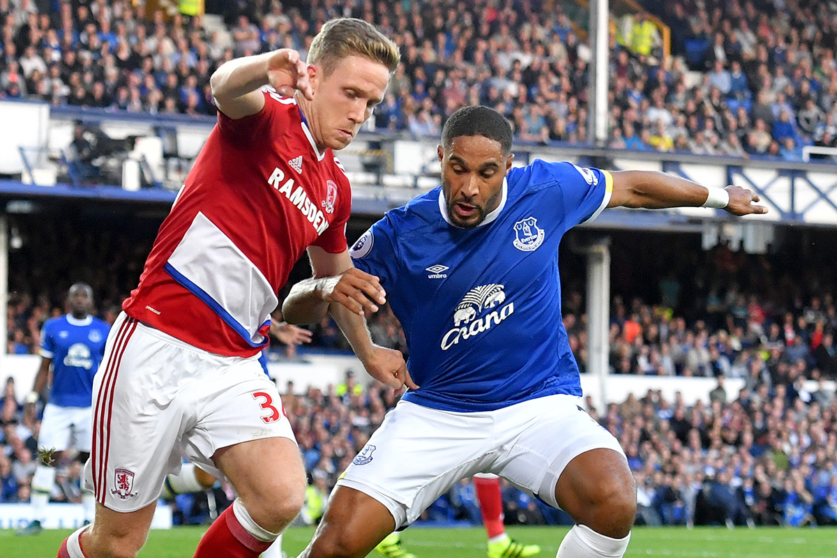 ashley williams Everton v Middlesbrough