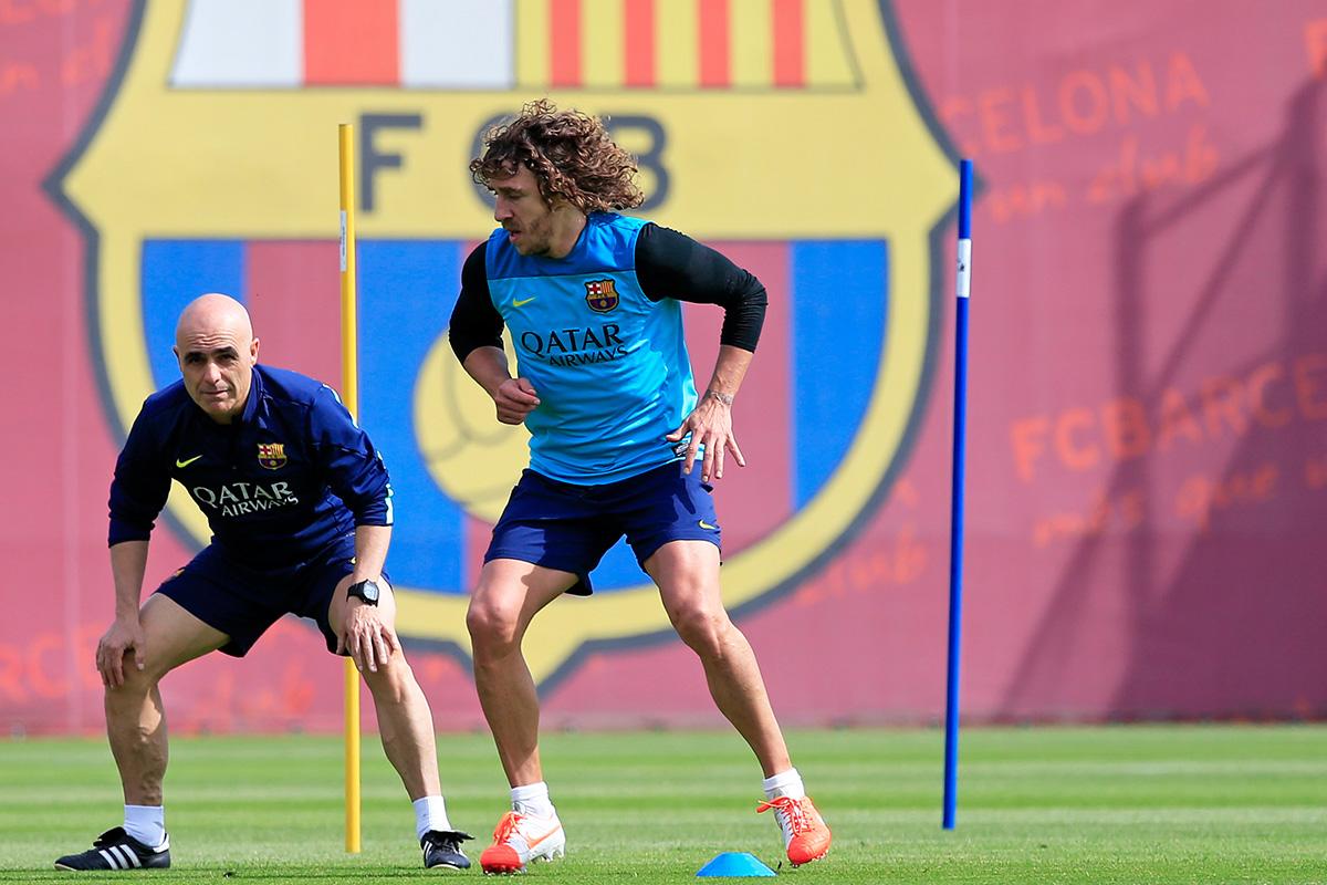 Carlos Puyol training