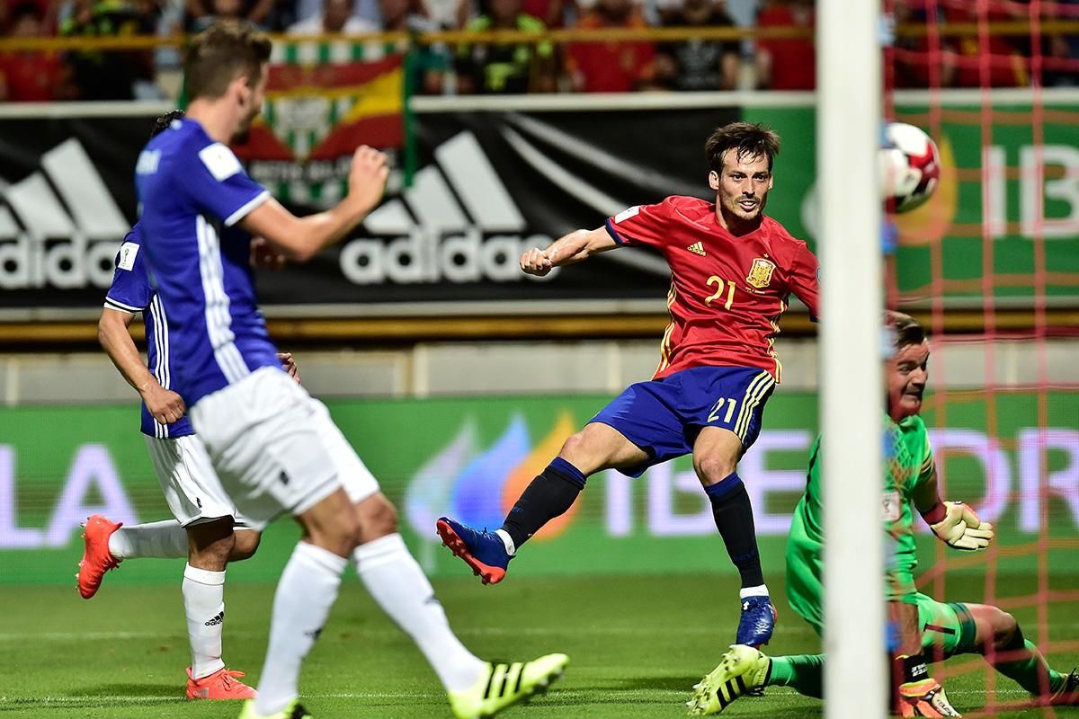 david silva Spain v Liechtenstein