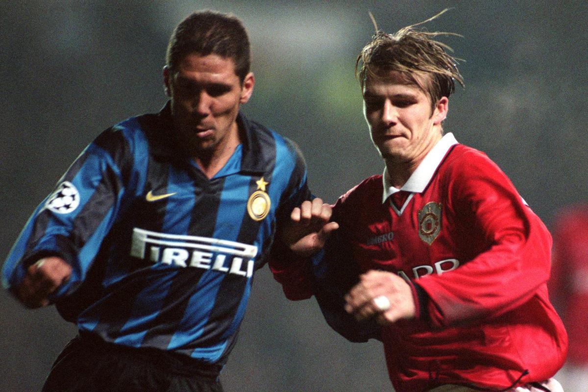 diego simeone UEFA Champions League - Quarter Final First Leg - Manchester United v Inter Milan
