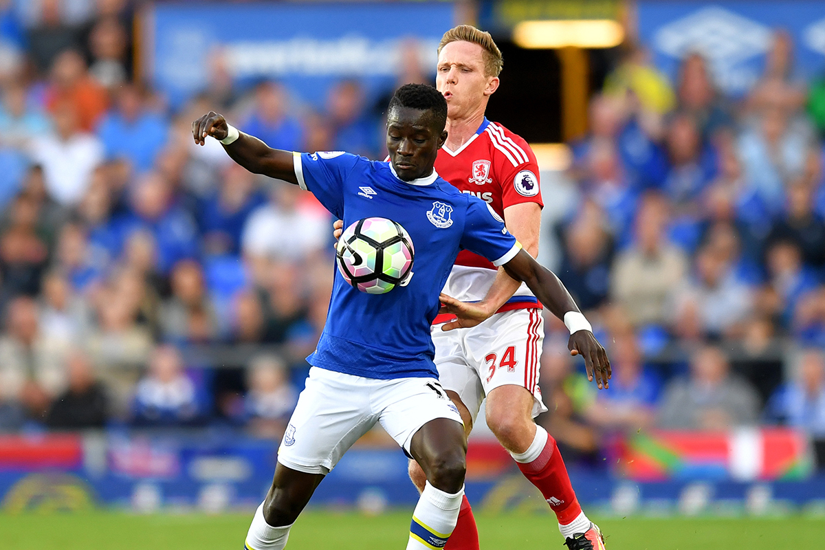 idrissa gueye Everton v Middlesbrough
