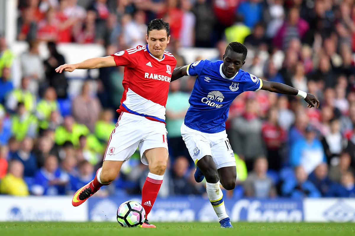 idrissa gueye Everton v Middlesbrough