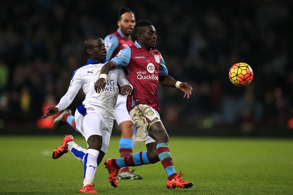 idrissa gueye Aston Villa v Leicester City