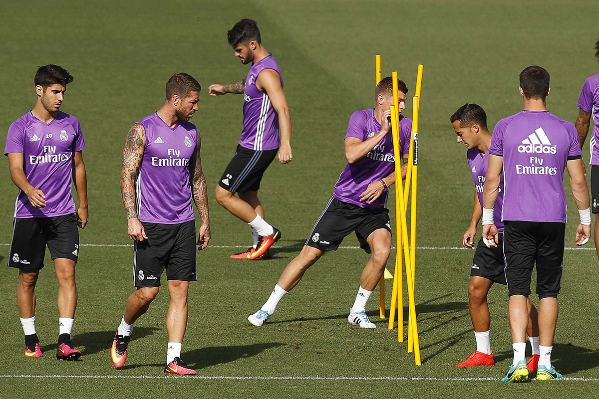 marco asensio isco real madrid training