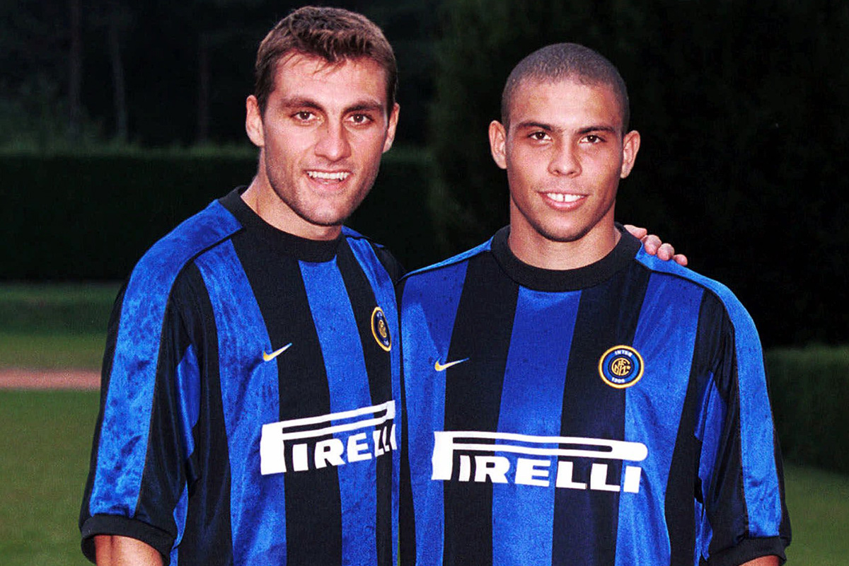 Christian Vieri and Ronaldo