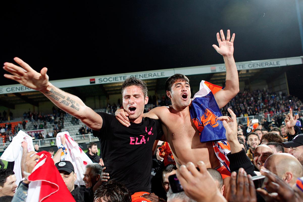 Montpellier celebrate Ligue 1 title