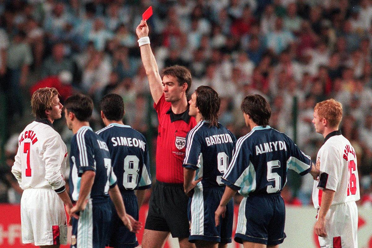 David Beckham Sent off