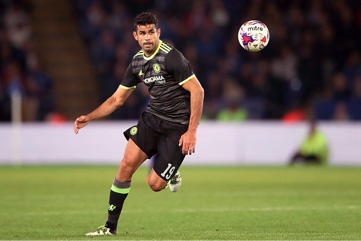 Diego Costa chases the ball