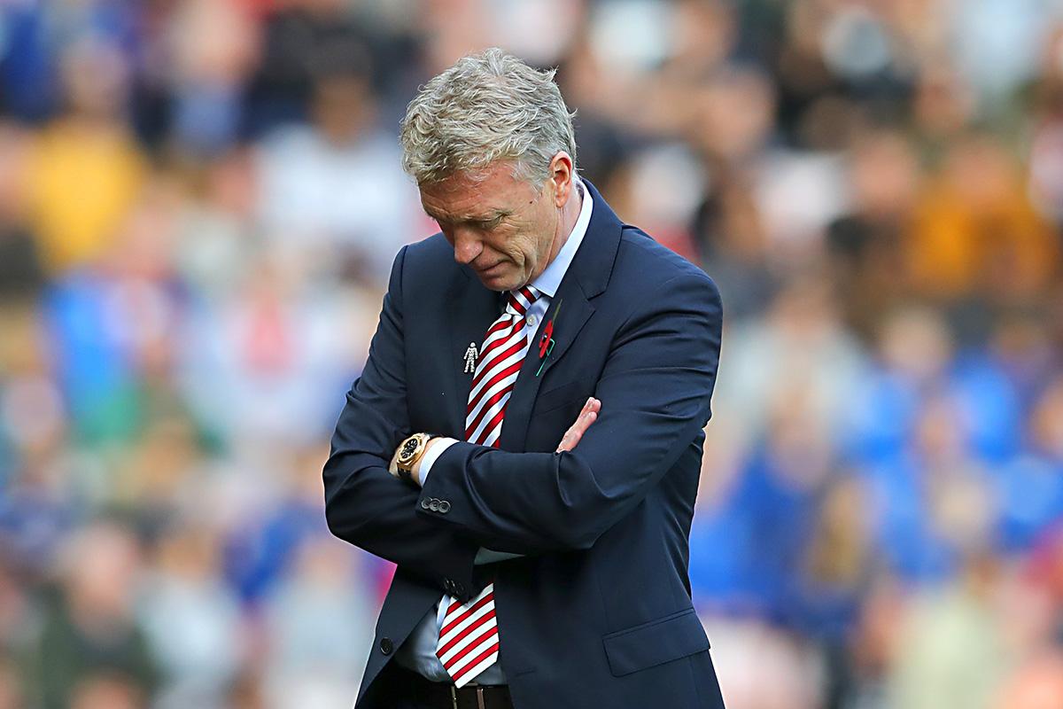 David Moyes dejected