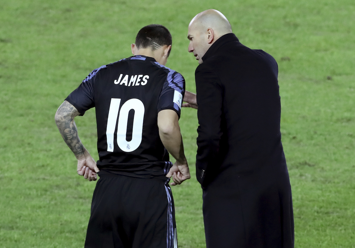 James Rodriguez looking for new club after finding himself out of favour with Zinedine Zidane