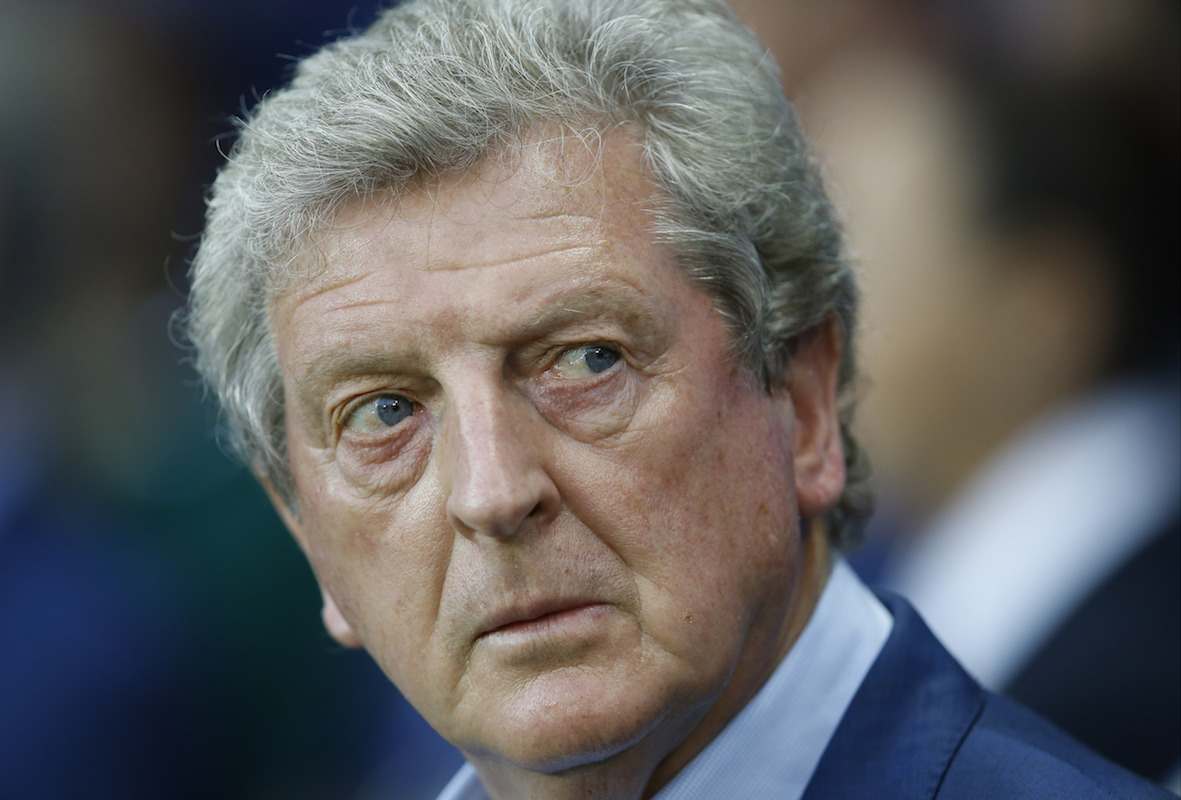 England coach Roy Hodgson looks on before the Euro 2016 round of 16 soccer match between England and Iceland, at the Allianz Riviera stadium in Nice, France, Monday, June 27, 2016. (AP Photo/Kirsty Wigglesworth)