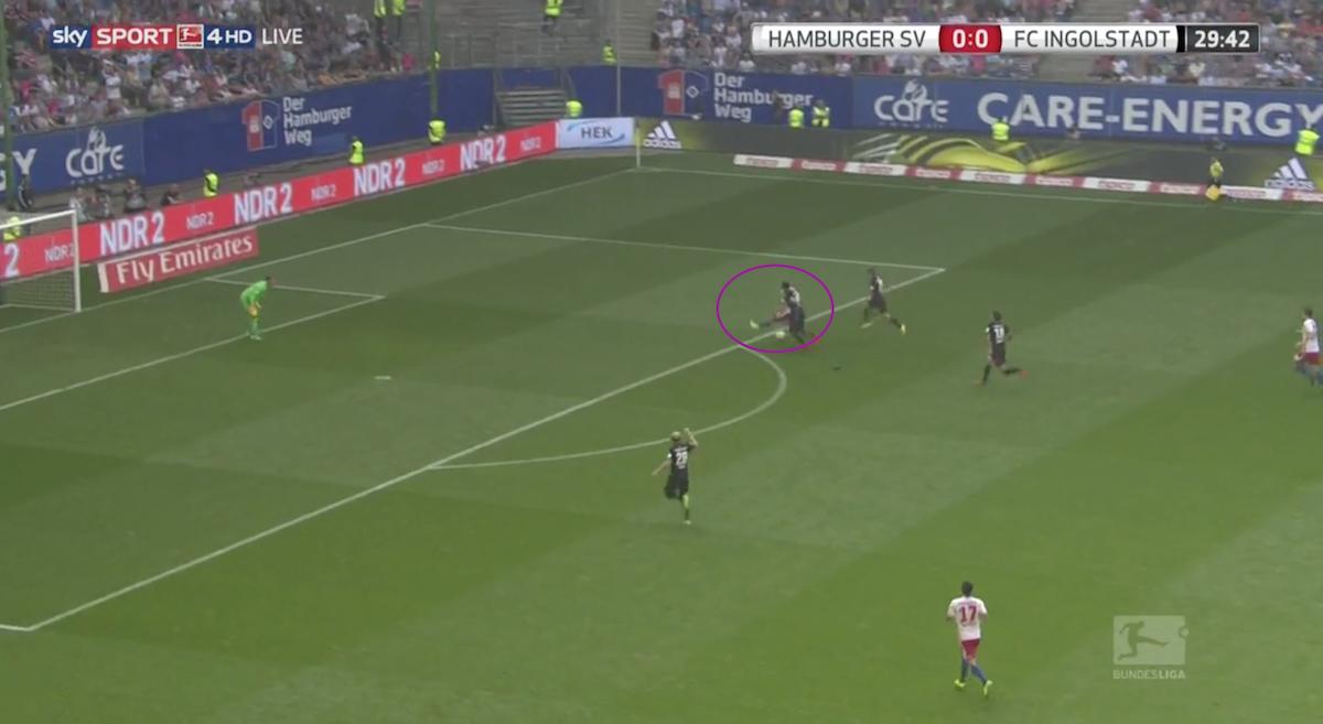 Wood goal against Ingolstadt
