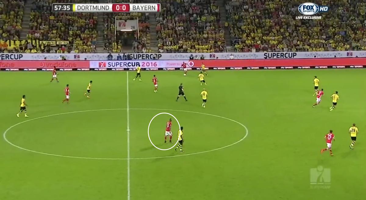 Vidal deep against Dortmund