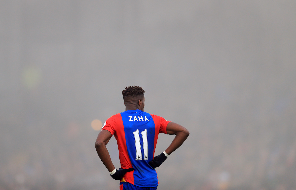 "Crystal Palace's Wilfried Zaha during the Premier League match at Selhurst Park, London. PRESS ASSOCIATION Photo. Picture date: Saturday December 17, 2016. See PA story SOCCER Palace. Photo credit should read: Adam Davy/PA Wire. RESTRICTIONS: EDITORIAL USE ONLY No use with unauthorised audio, video, data, fixture lists, club/league logos or ""live"" services. Online in-match use limited to 75 images, no video emulation. No use in betting, games or single club/league/player publications."