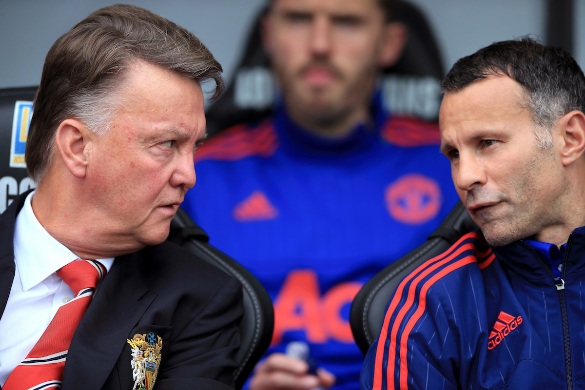 File photo dated 30-08-2015 of Manchester United manager Louis van Gaal (left) and assistant manager Ryan Giggs.