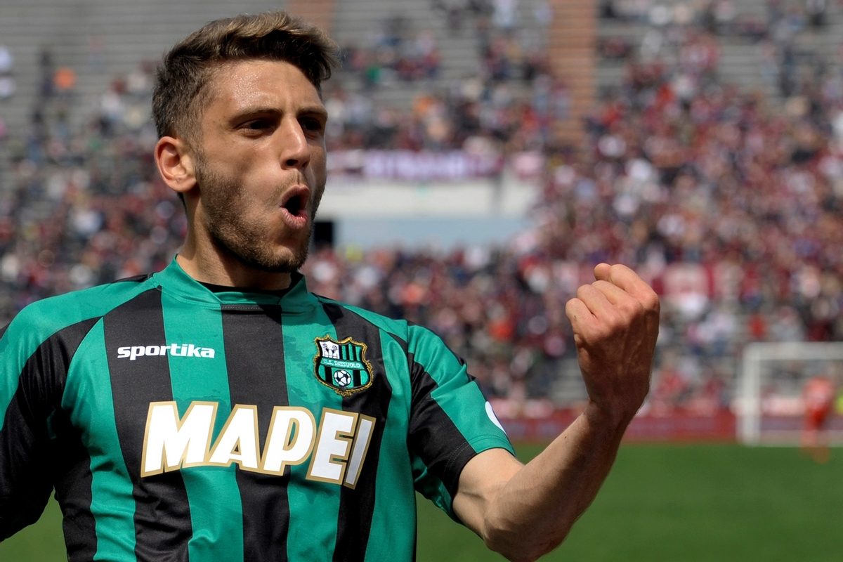 Domenico Berardi goal celebrate sassuolo