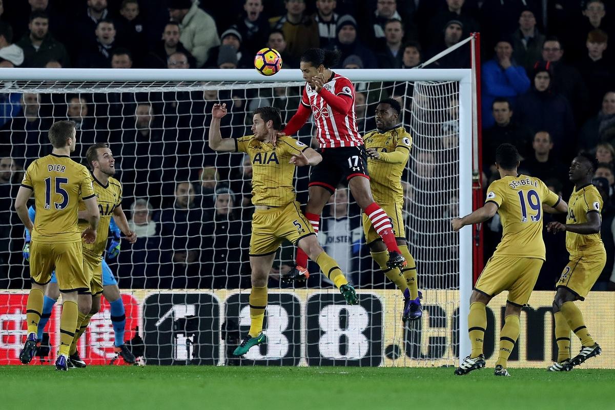 Virgil Van Dijk header goal spurs