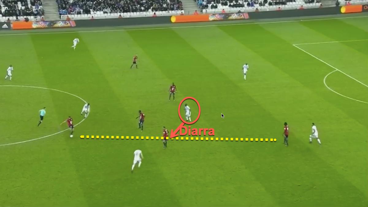 Man Utd target Lassana Diarra makes an interception
