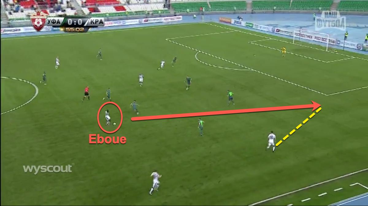 Celtic target Kouassi Eboue in action for Krasnodar
