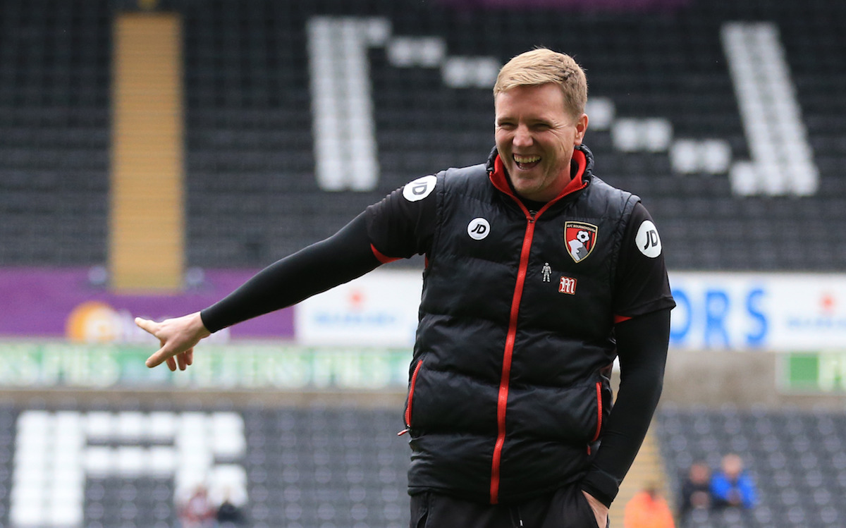 "AFC Bournemouth manager Eddie Howe after inspecting the pitch before the Premier League match at the Liberty Stadium, Swansea. PRESS ASSOCIATION Photo. Picture date: Saturday December 31, 2016. See PA story SOCCER Swansea. Photo credit should read: Nigel French/PA Wire. RESTRICTIONS: EDITORIAL USE ONLY No use with unauthorised audio, video, data, fixture lists, club/league logos or ""live"" services. Online in-match use limited to 75 images, no video emulation. No use in betting, games or single club/league/player publications."