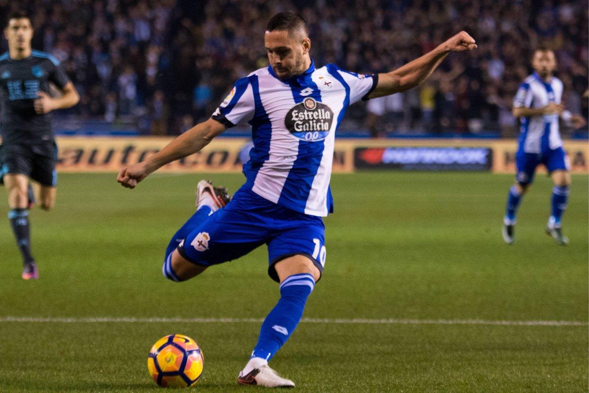 Florin Andone in action for Deportiva La Coruna