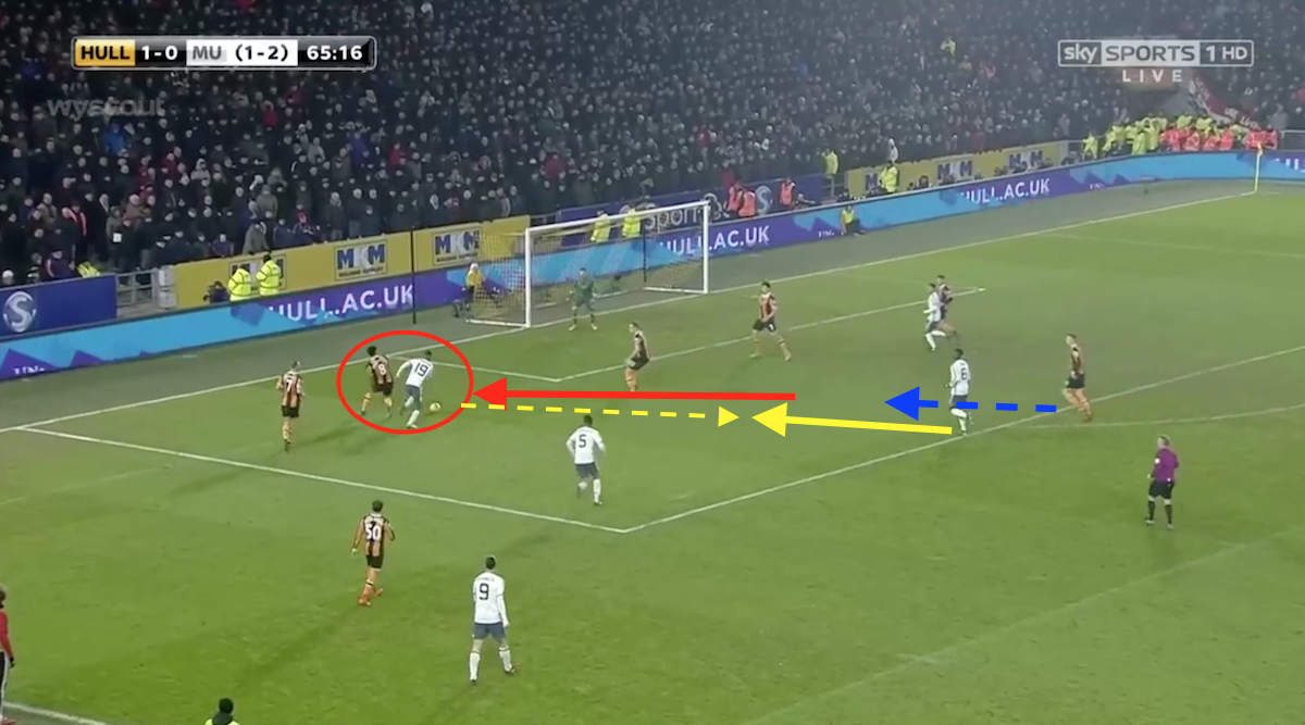 Hull had a good position against Manchester United before the goal.