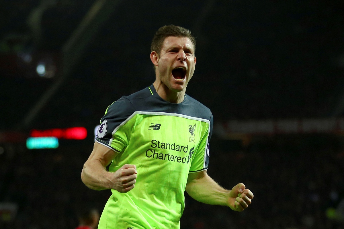 James Milner, marooned at left-back, should move to Liverpool's midfield