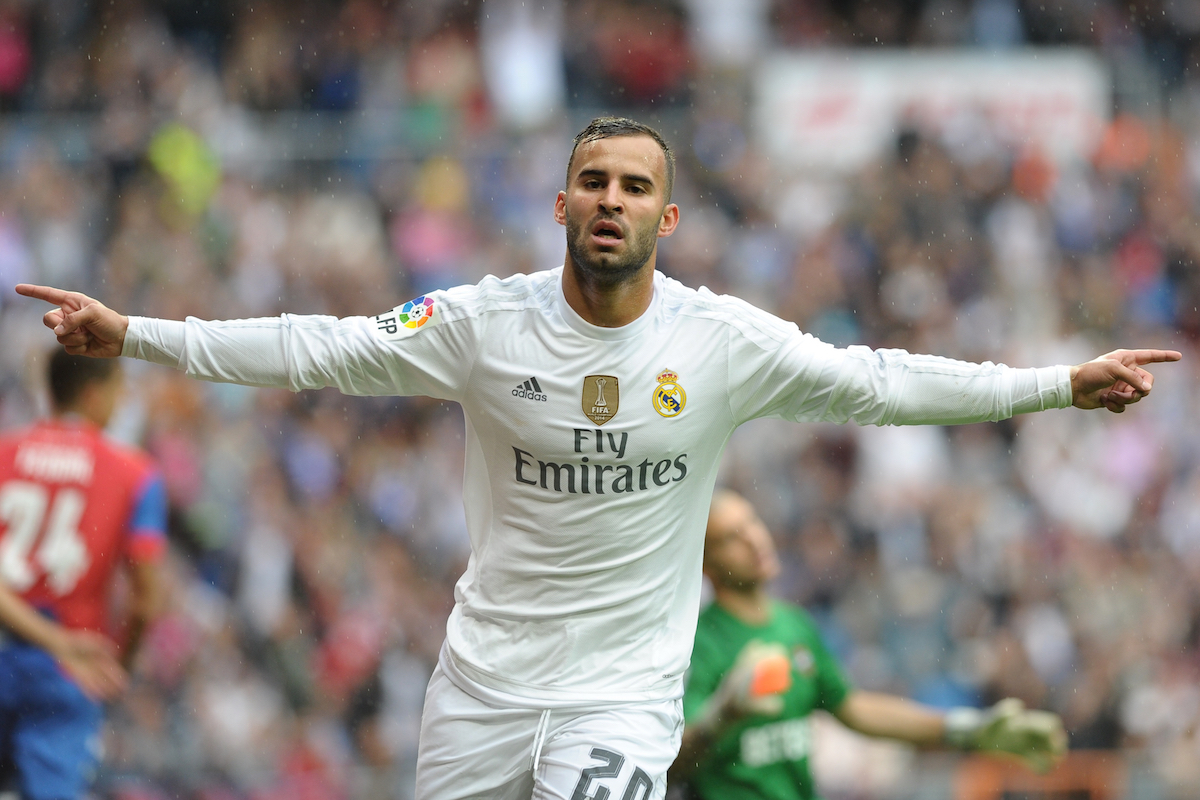 Real Madrid's Jese celebrates a goal