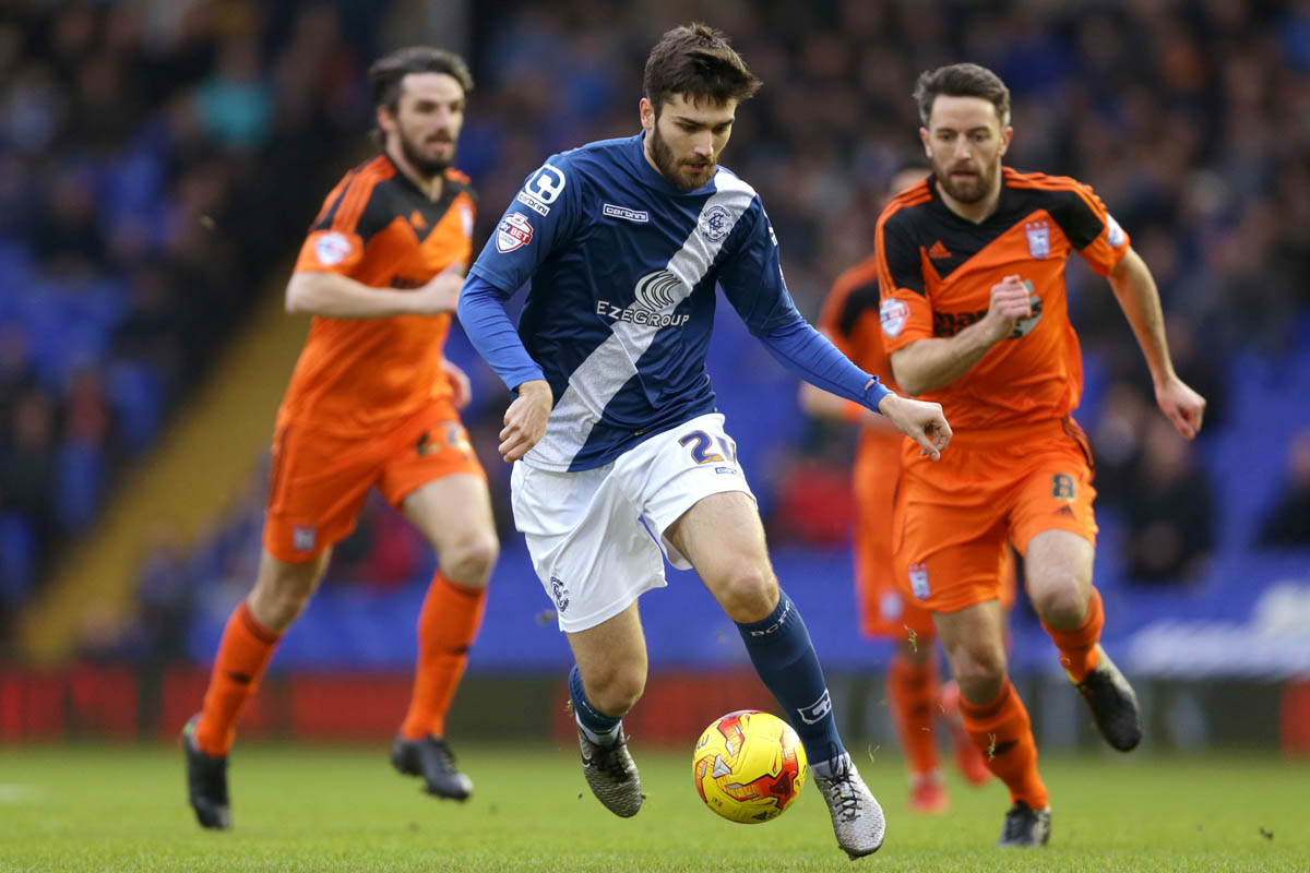 Jon Toral in action for Birmingham City.