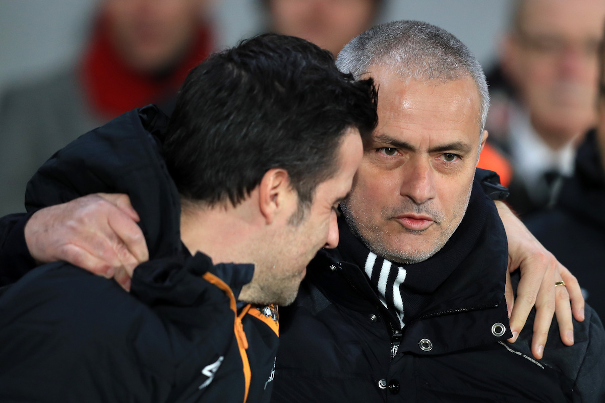 Hull City manager Marco Silva (left) and and Manchester United manager Jose Mourinho
