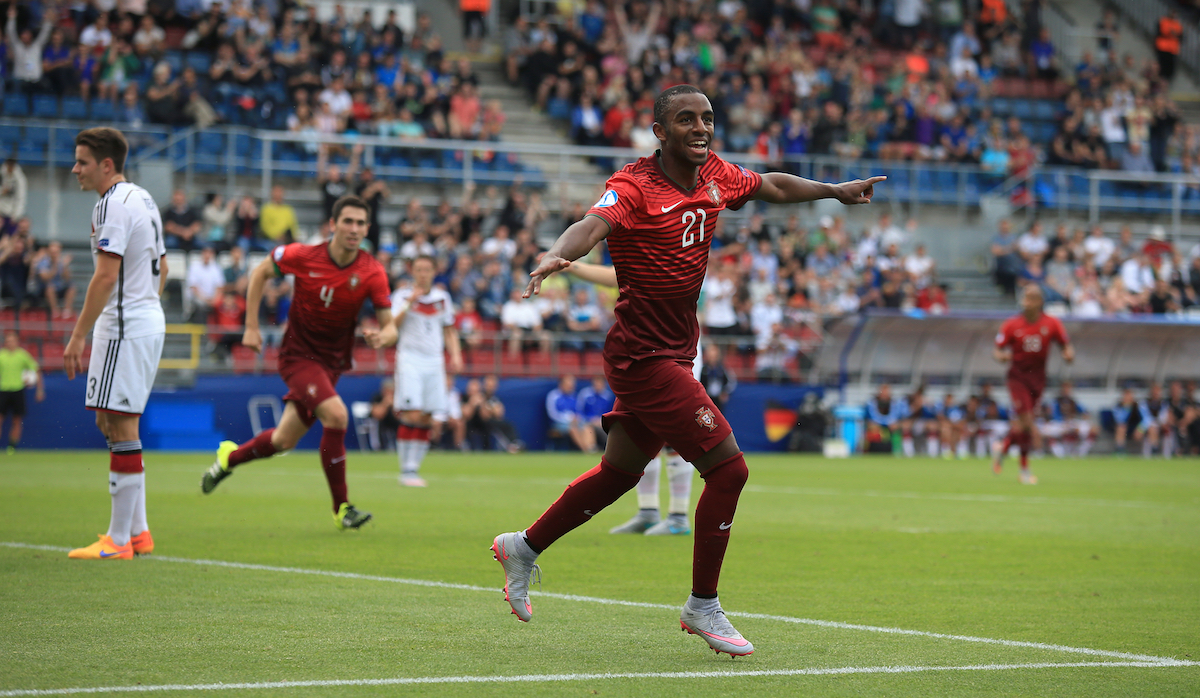 Portugal's Ricardo Pereira celebrates scoring his sides first goal of the game