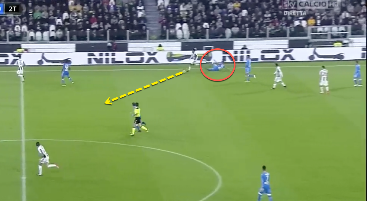 Faouzi Ghoulam missed tackle for Napoli vs Juventus
