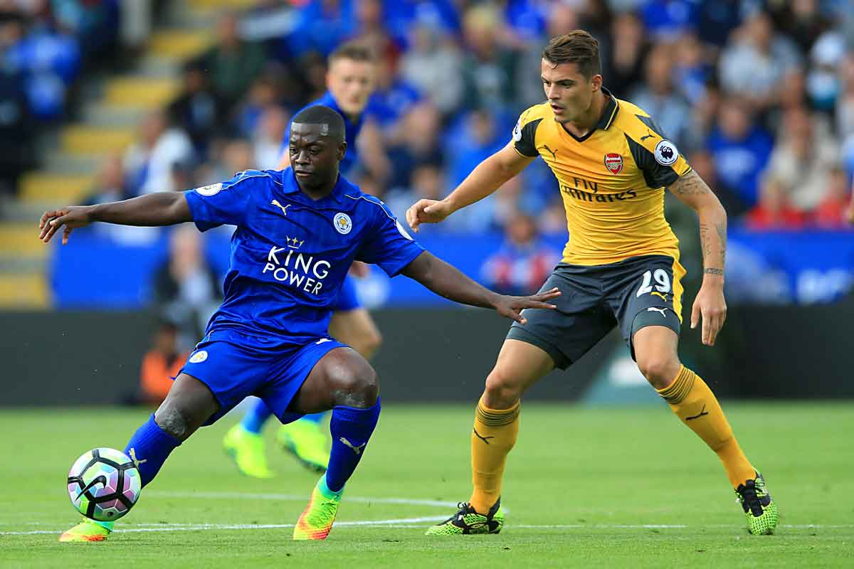 Leicester midfielder Nampalys Mendy