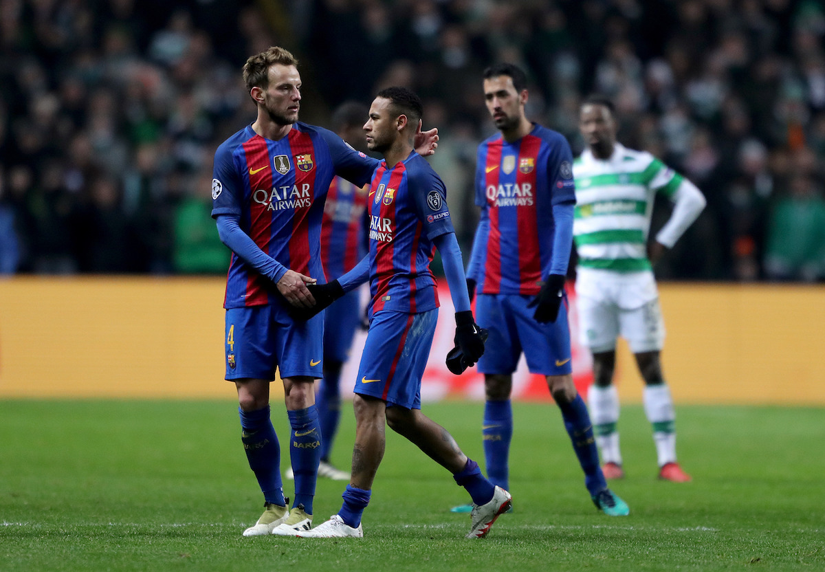 Ivan Rakitic and Neymar